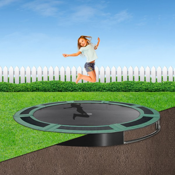 14ft Round In-Ground Trampoline Kit - Green