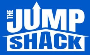The Jump Shack company logo in blue