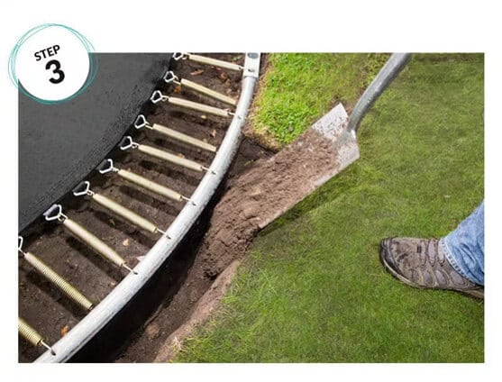 Step 3 Site Trampoline into hole