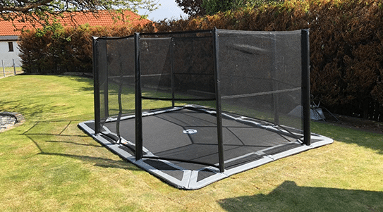 All sizes of in-ground trampoline safety nets available