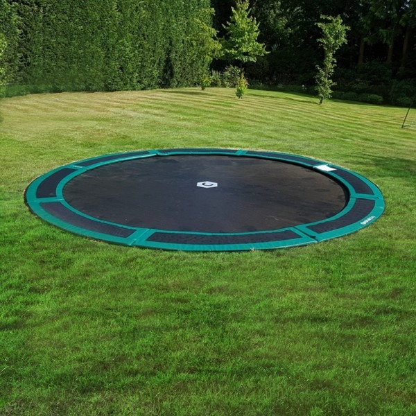14ft Round Capital In Ground Trampoline Kit in Green