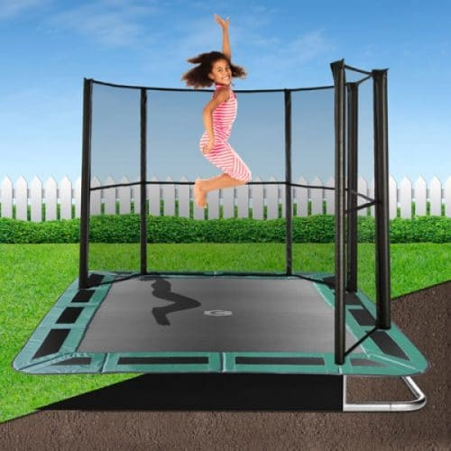 11ft x 8ft Capital In-Ground Trampoline Safety Enclosure - Corner