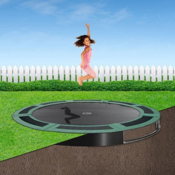 12ft Capital In Ground Trampoline Kit - Green