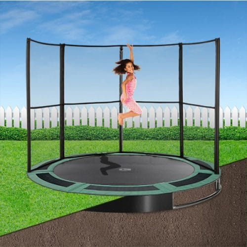 12ft Capital In-Ground Trampoline Safety Enclosure - Half