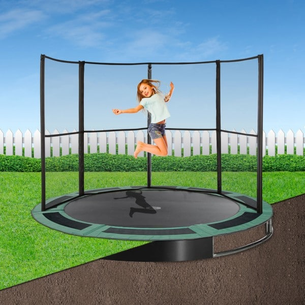 14ft Capital In-Ground Trampoline Safety Enclosure - Half