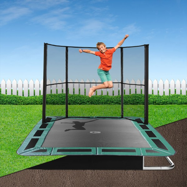 14ft x 10ft Capital In-Ground Trampoline Safety Enclosure - Side