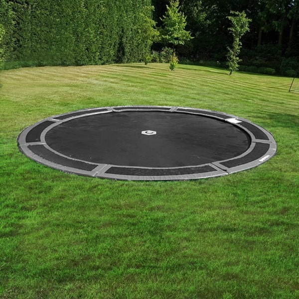 14ft Round Capital In Ground Trampoline Kit in Gray