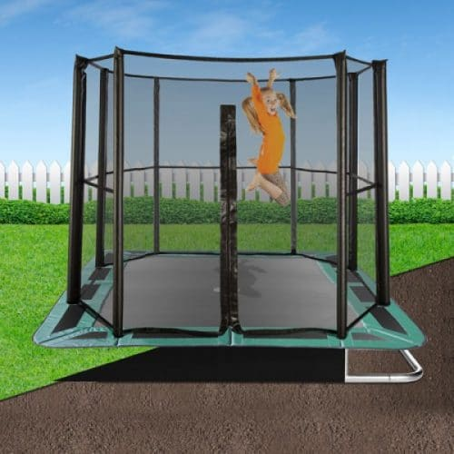 10ft x 6ft Capital In-Ground Trampoline Safety Enclosure - Full