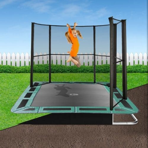 10ft x 6ft Capital In-Ground Trampoline Safety Enclosure - Corner