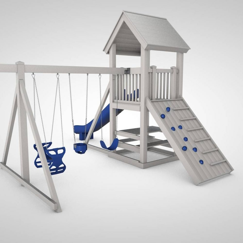The hideout playswing set
